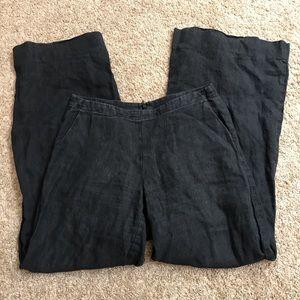CAbi Black Linen Wide Leg Pants #335 100% Linen